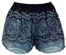 Lightweight Pantys Print Shorts - black/blue