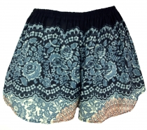 Lightweight Pantys Print Shorts - black