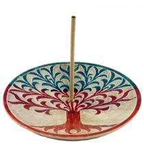 Indian incense holder made of soapstone, candle plate - tree of l..