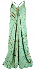Batik maxi dress, beach dress, summer dress, long dress - green