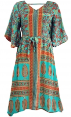 Boho caftan, summer dress, caftan dress, beach dress - turquoise