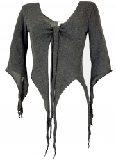 Short Pixi cardigan - anthracite