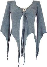 Short Pixi cardigan - dove blue