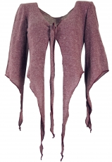 Short Pixi cardigan - antique pink