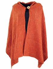 Poncho scarf, poncho, cape scarf - rust red