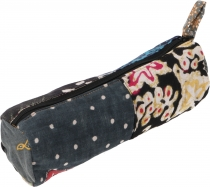 Patchwork pencil case, ethno pencil case, batik pencil case - bla..