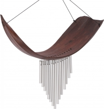 Aluminium soundtrack, exotic wind chimes - Palm leaf brown