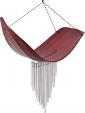 Aluminium sound-chime, exotic wind chime - Palm leaf red