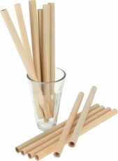 Bamboo drinking straws, bamboo straw 12 pieces
