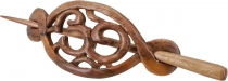 Ethno wood hairclip with stick, Boho hair accessories - OM/Model2