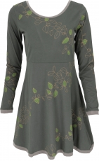 Mini dress, Boho dress Leave Organic - dark green