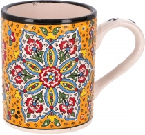 Handpainted Turkish coffee mug, oriental coffee cup - saffron