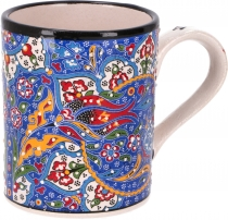 Handpainted Turkish coffee mug, oriental coffee cup - blue