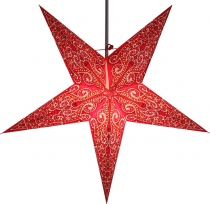 Foldable Advent illuminated paper star, poinsettia 60 cm - Molino..
