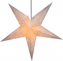 Foldable Advent illuminated paper star, poinsettia 60 cm - Marinu..