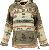 Goa hooded shirt, Baja Hoody Nepalhoodie - light olive green