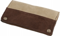 Tobacco pouch, tobacco pouch, suede swivel pouch - light brown