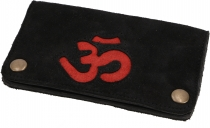 Tobacco pouch, tobacco pouch, rotating leather pouch OM - black/r..