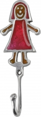 Colourful aluminium coat hook, wall hook - Girls
