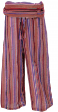 Thai fisherman pants from striped woven, fine cotton, wrap pants,..