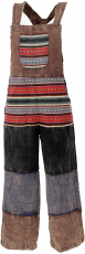 Patchwork Dungarees, Japan Style, Boho Pants - brown