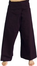 Thai cotton fisherman pants, wrap pants, yoga pants - M/L plum