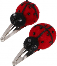 Felt hair clip, 1 pair of felt hair clips - Ladybird