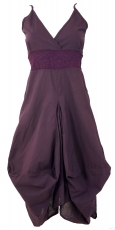 Long summer dress hippie chic - purple