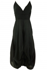 Long summer dress hippie chic - black