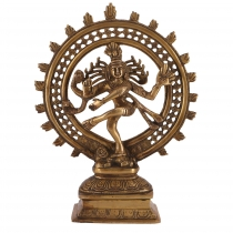 Brass figure, statue Shiva in fire wreath 29 cm - motif 9
