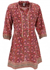 Boho tunic, Indian blouse tunic, mini dress - red