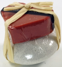 Soap set Heart on the Rock, 75 g soap on pumice stone, Fair Trade..