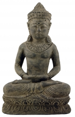 Seated stone Buddha, 30 cm - Model 2