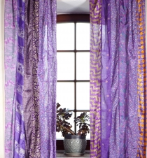 Boho patchwork curtains (2 pcs.) 1 pair Bohemia curtain from sare..