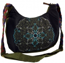 Ethno Shoulder Bag, BohoBag Mandala, Nepal Bag - black