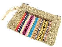 Ethno Hemp Cosmetic Bag - pink