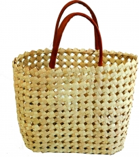 woven basket bag in three sizes - natural
