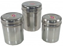 Stainless steel spice box 3èr Set