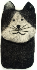 Felt mobile phone bag cat