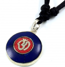 Tibet necklace, Nepalese jewellery, amulet Lapis - OM