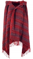 Soft Goa scarf, large shawl, Indian scarf/stole - red