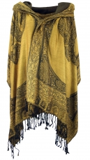 Pashmina-Viscose Scarf, Indian Boho Stole with Paisley Pattern - ..