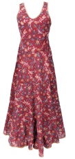 Long boho maxi dress, cotton summer dress - red