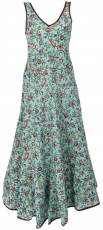 Long Boho maxi dress, cotton summer dress - turquoise