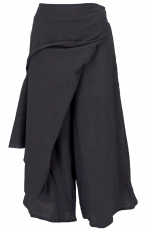 Ethno divided skirt, boho maxi skirt, summer skirt - black
