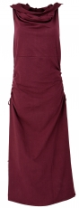 Convertible Goa dress, Psytrance Festival dress - burgundy