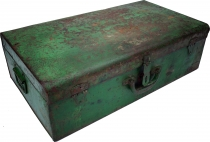 Old tin case antique metal case - model 18