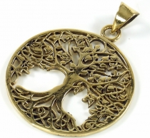 Amulet `tree of life` brass pendant - Model 2