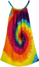 Batik children`s dress rainbow, strap dress, summer dress, girls`..