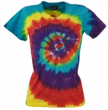 Tie Dye Goa Shirt Rainbow - blue/red